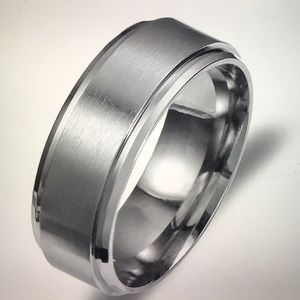 Men Women Stainless Steel Titanium Ring SZ 12